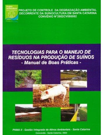 TECNOLOGIAS PARA O MANEJO DE RESÍDUOS NA PRODUÇÃO ...