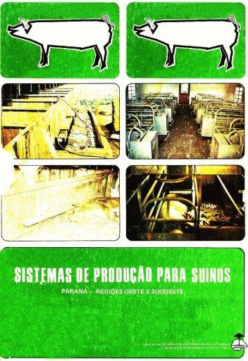 Slrm~dAS Iit PRODUCAO PARA SUINOS - Infoteca-e - Embrapa