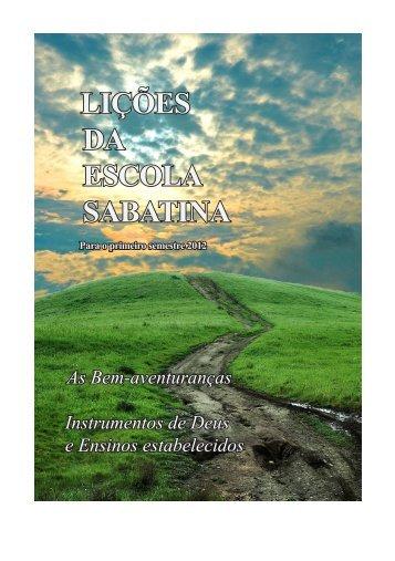 LIÇÕES DA ESCOLA SABATINA - sda1844.org