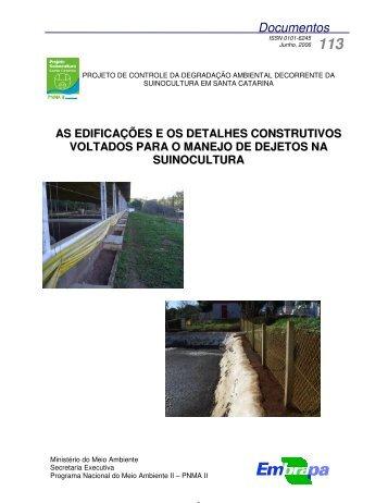 as edificações e os detalhes construtivos voltados - Ainfo - Embrapa