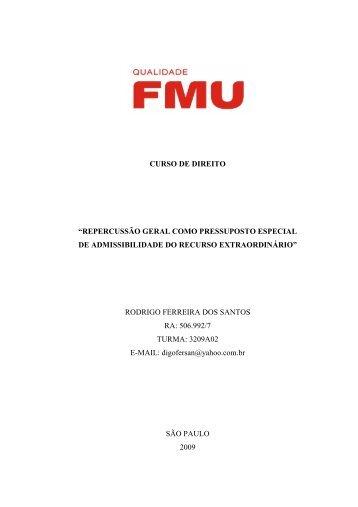 Monografia Jurídica - Repercussão Geral - Finalizado - Fmu