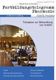 Tolvaptan zur Behandlung von SIADH. -  Heinrich-Heine-Universität ...