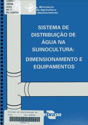 SISTEMA DE DISTRIBUIÇÃO DE ÁGUA NA SUINOCULTURA ...