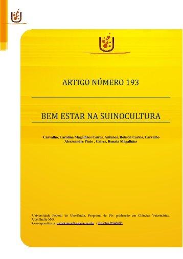 Artigo 193 - Bem estar na suinocultura - Nutritime