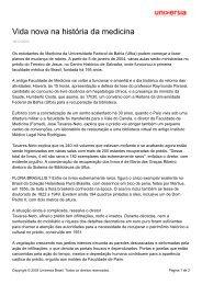 Vida nova na história da medicina - Universia - Universia Brasil