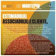 ESTIMADO(A) ASSOCIADO(A) E CLIENTE, - Montepio