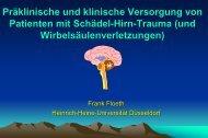 Präklinische und klinische Versorgung von Patienten mit Schädel ...
