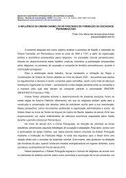 A INFLUÊNCIA DA ORDEM CARMELITA NO PROCESSO DE ...