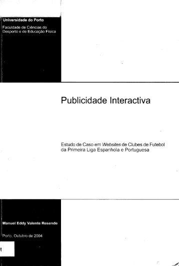 Publicidade Interactiva - Repositório Aberto da Universidade do Porto