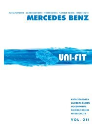 MERCEDES BENZ - UNI-FIT KATALYSATOREN GmbH