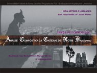 Pause & Clark - Catedral - Sonia Afonso - Universidade Federal de ...