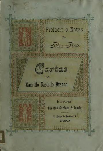 Cartas de Camillo Castello Branco