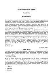 AS MALUQUICES DO IMPERADOR Paulo Setúbal ...