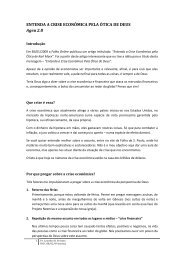 ENTENDA A CRISE ECONÔMICA PELA ÓTICA DE DEUS Ageu 2.8
