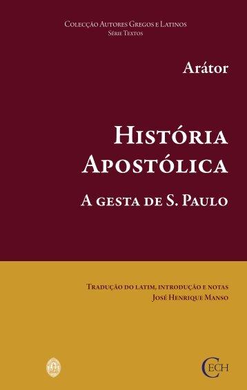Arátor. História Apostólica - Universidade de Coimbra