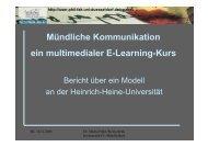 E-Learning-Konzept und Evaluation - Heinrich-Heine-Universität ...