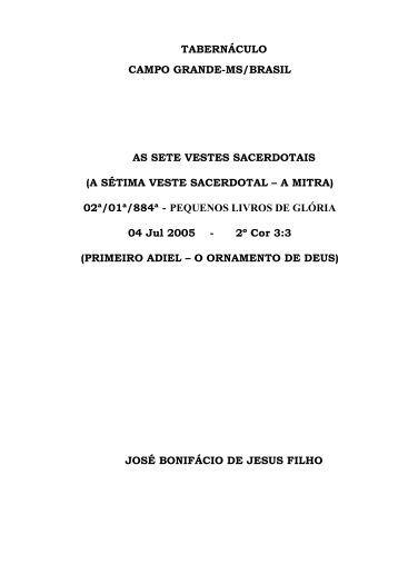 pequenos livros de gloria - Tabernaculo