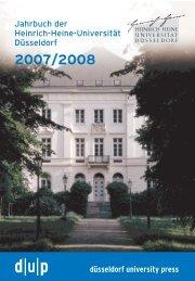 düsseldorf university press Jahrbuch  der Heinrich-Heine-Universität  ...