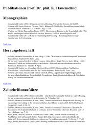 Publikationen Prof. Dr. phil. K. Hauenschild Monographien ...