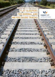 FLAT SLEEPERS FOR NORMAL AND METER ... - Vigier Rail AG