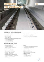 RéféRences Voie sans ballast 7.2 - Vigier Rail AG
