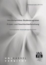 Lehrveranstaltungen - Universität Kassel