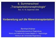 """6. Summerschool """"Transplantationsnephrologie"""""""