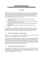 Zentrales Gleichstellungsbudget – Konzept zur Beantragung und ...