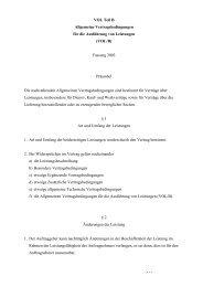 Allgemeine Vertragsbedingungen für die Ausführung von ... - BMWi