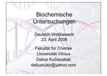 Biochemische Untersuchungen