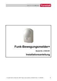 Funk-Bewegungsmelder+ (374 KB) - Tunstall GmbH