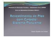 (Microsoft PowerPoint - Revestimento de Piso com Carpete ... - Ufrgs
