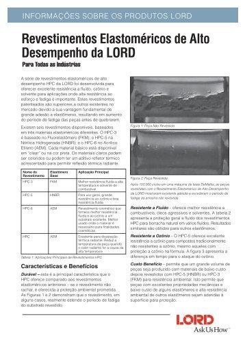Revestimentos Elastoméricos de Alto Desempenho ... - Lord Industrial