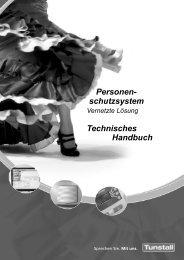 Personenschutzsystem Techniker-Handbuch ... - Tunstall GmbH