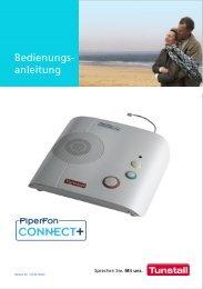 PiperFon Connect+ Bedienungsanleitung - Tunstall GmbH