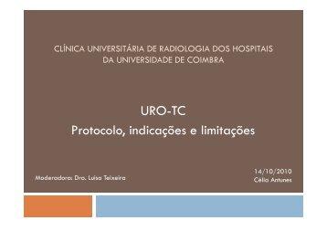 URO-TC Protocolo, indicações e limitações - H.U.C.