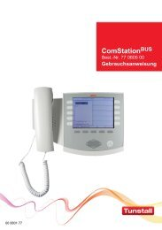 Gebrauchsanweisung ComStation BUS - Tunstall GmbH