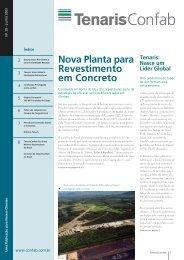 Nova Planta para Revestimento em Concreto - Tenaris