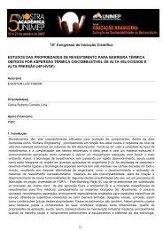 Estudos das propriedades de revestimento para barreira ... - Unimep