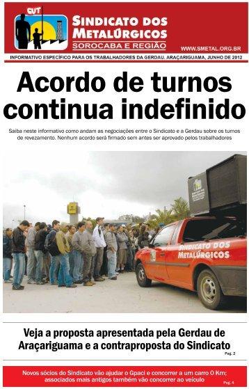 Junho de 2012 - Sindicato dos Metalúrgicos de Sorocaba e Região