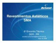 Revestimentos Asfálticos SMA - DER