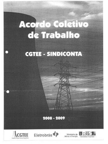 2008 - 2009 Acordo Coletivo CGTEE SINDICONTA