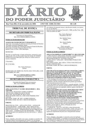edição 3011.pmd - Tribunal de Justiça do Estado de Roraima