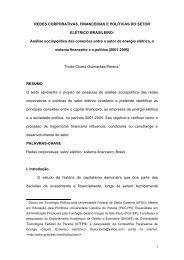 REDES CORPORATIVAS, FINANCEIRAS E POLÍTICAS DO ... - UFRJ