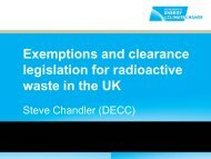 Exemptions and clearance legislation for radioactive waste in the UK