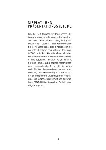 DISPLAY- UND PRÄSENTATIONSSYSTEME - Vario-Display AG