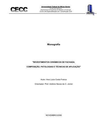 Revestimentos Cerâmicos de Fachada - CECC - UFMG