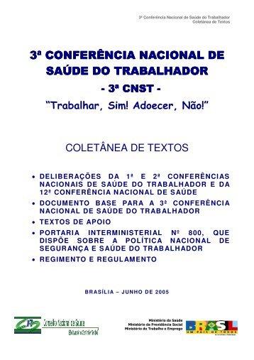 3ª conferência nacio 3ª conferência nacional de saúde do ... - ACPO