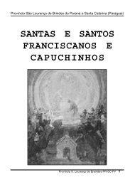 SANTAS E SANTOS FRANCISCANOS E CAPUCHINHOS