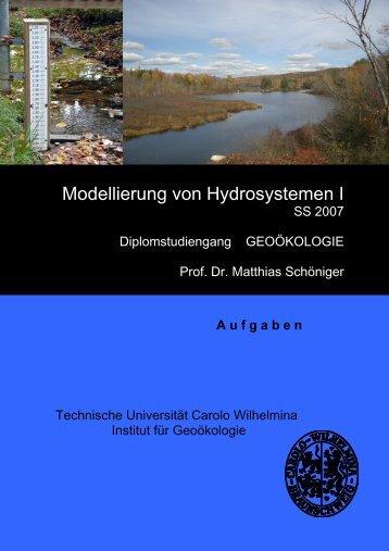 Modellierung von Hydrosystemen I - Technische Universität ...